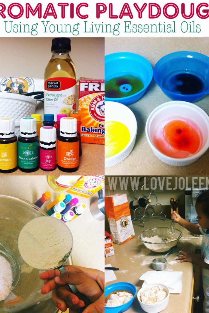 Toddler Project: Homemade Aromatic Playdough with Young Living Essential Oils