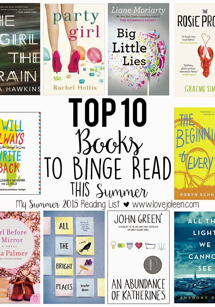 Top 10 Books to Binge Read this Summer