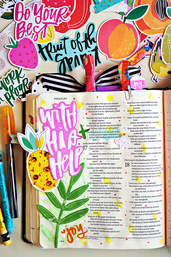 Fruit of the Spirit: Joy | Bible Journaling Process Video with Purpose Driven Essentials