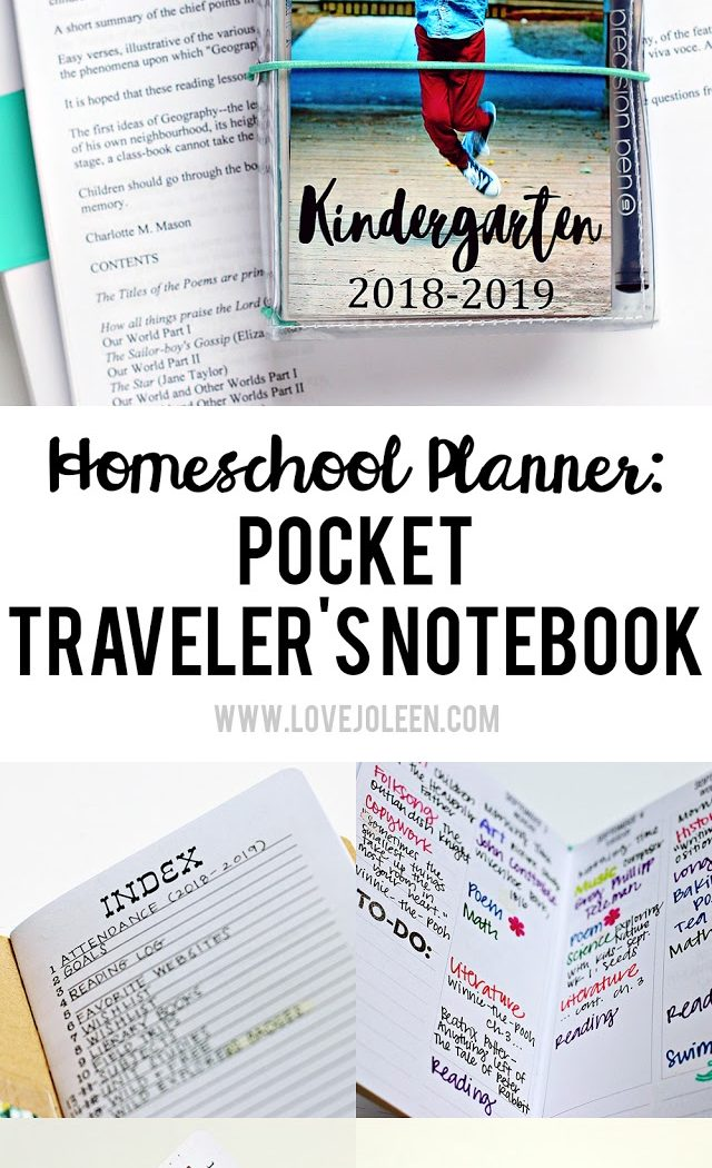 How I'm Using a Pocket Traveler's Notebook As My Homeschool Planner