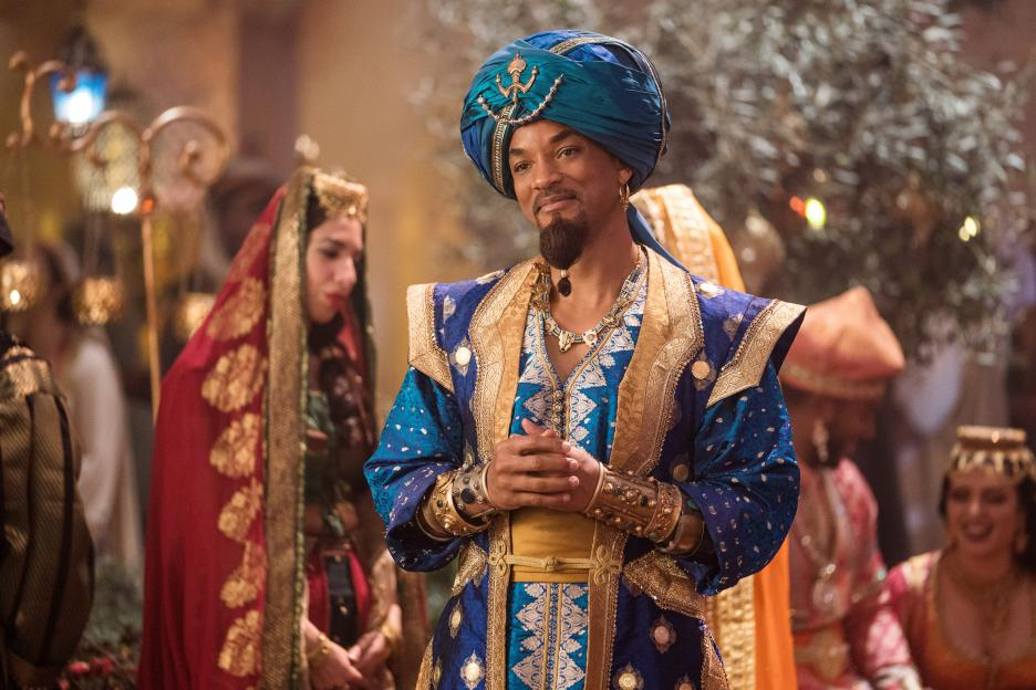 Will Smith as the Genie in Disney's 2019 live action version of Aladdin