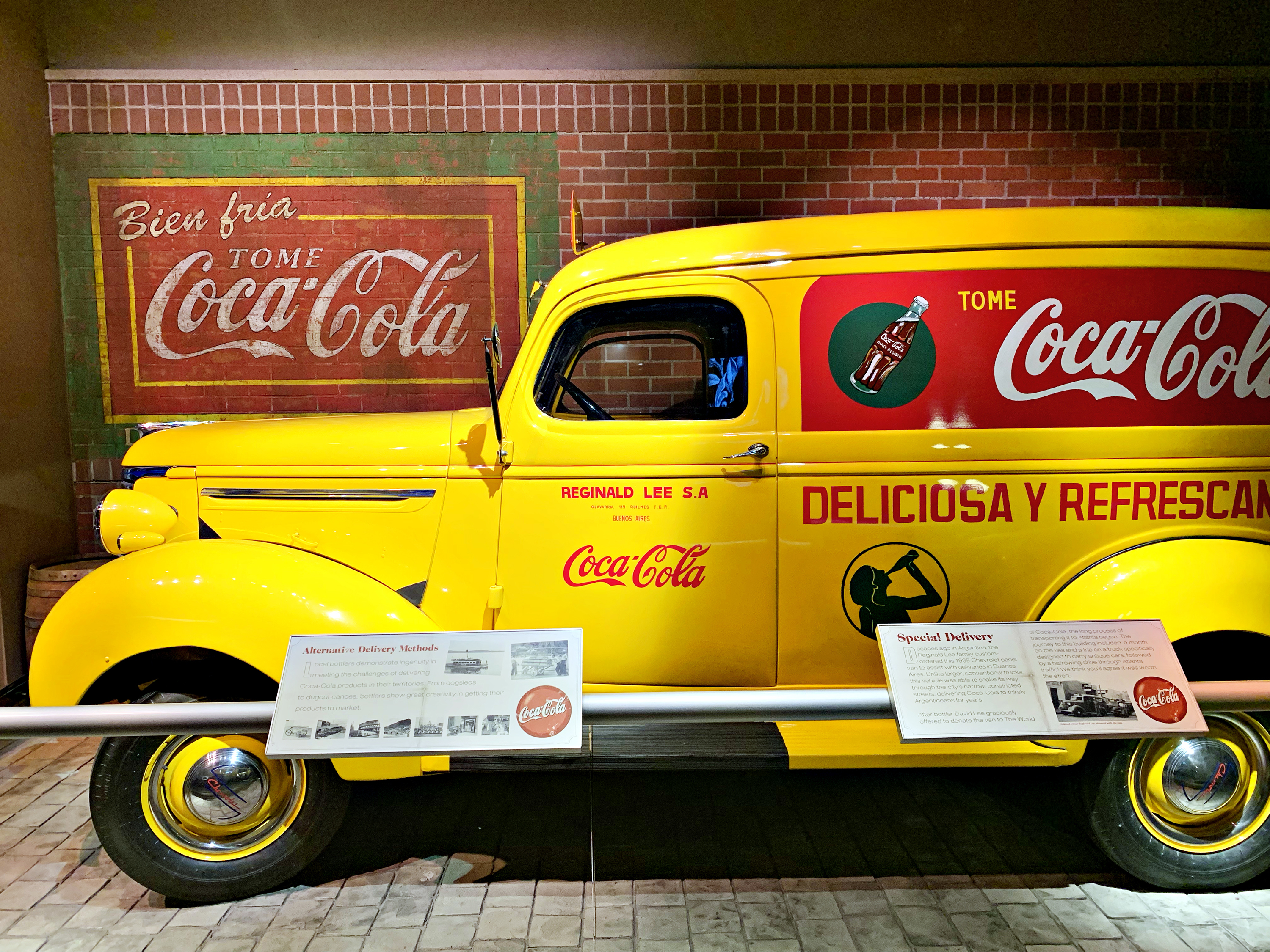 some of the exhibits at World of Coca-Cola in Atlanta
