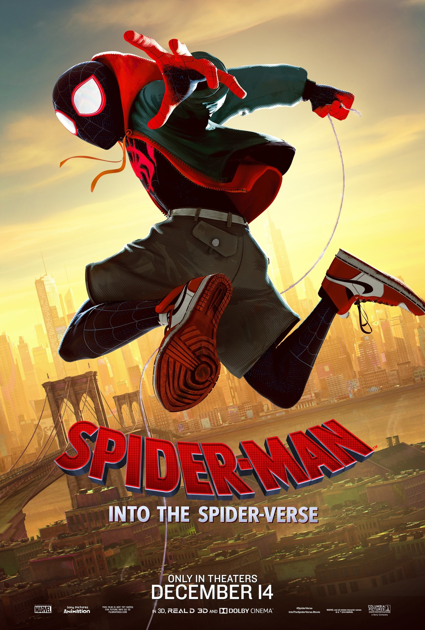 Spider-Man: Into the Spider-Verse movie poster.