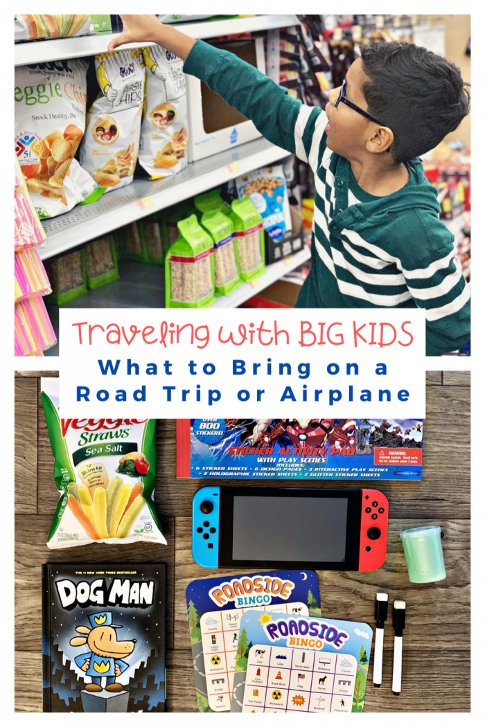 Traveling with Big Kids: What to Bring on a Road Trip or Airplane