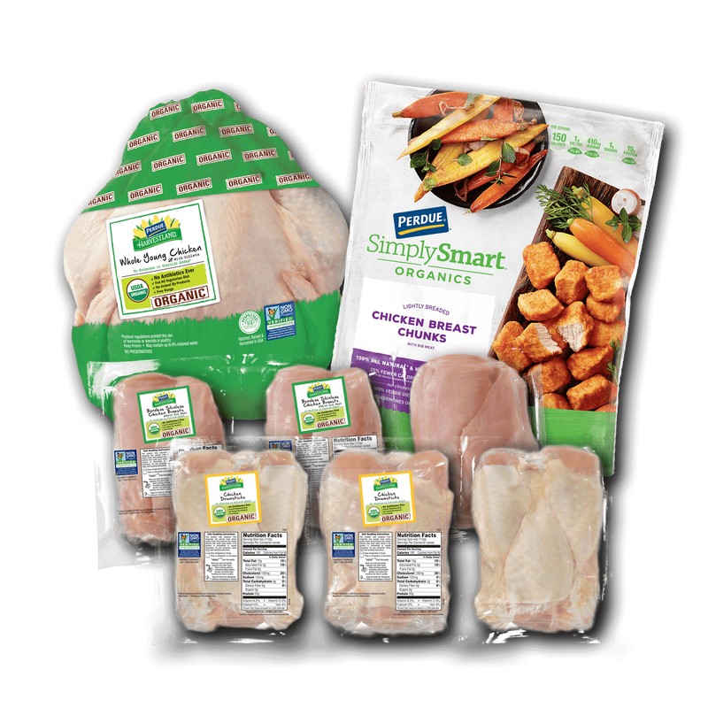 Perdue farms medium organic bundle of chicken.