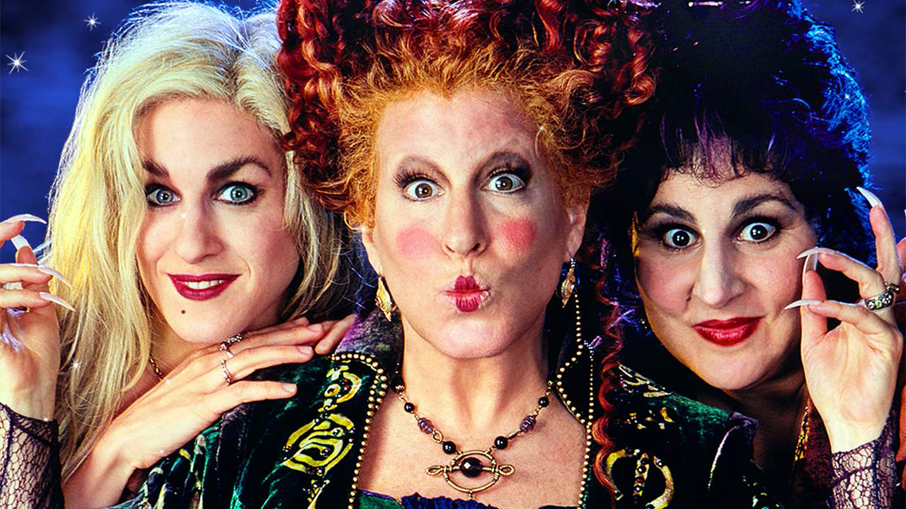 The Sanderson Sisters from the 1993 Halloween hit movie, Hocus Pocus.