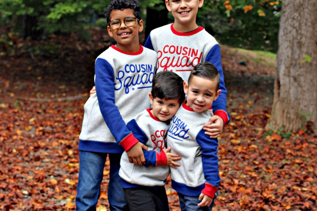 Easy 'Cousin Squad' Sweatshirt DIY Using the Cricut EasyPress 2