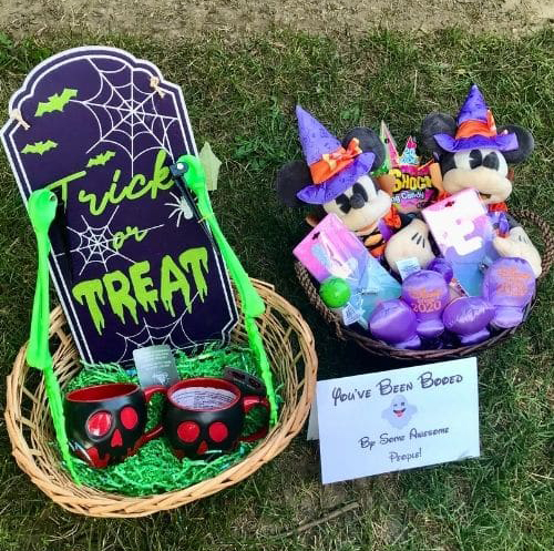 Adult and kid, Disney themed Boo Baskets